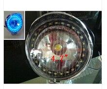 Blue LED Angel Eye Spot Light Fog Light For  Honda Rebel CMX 250 CA125 250 450 Gold Wing  GL1500 GL1800 SHADOW ACE VLX DLX MAGNA