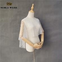 Boléro perlé femmes accessoires de mariage perles femme enveloppes de mariée haussements dépaules capes de mariée