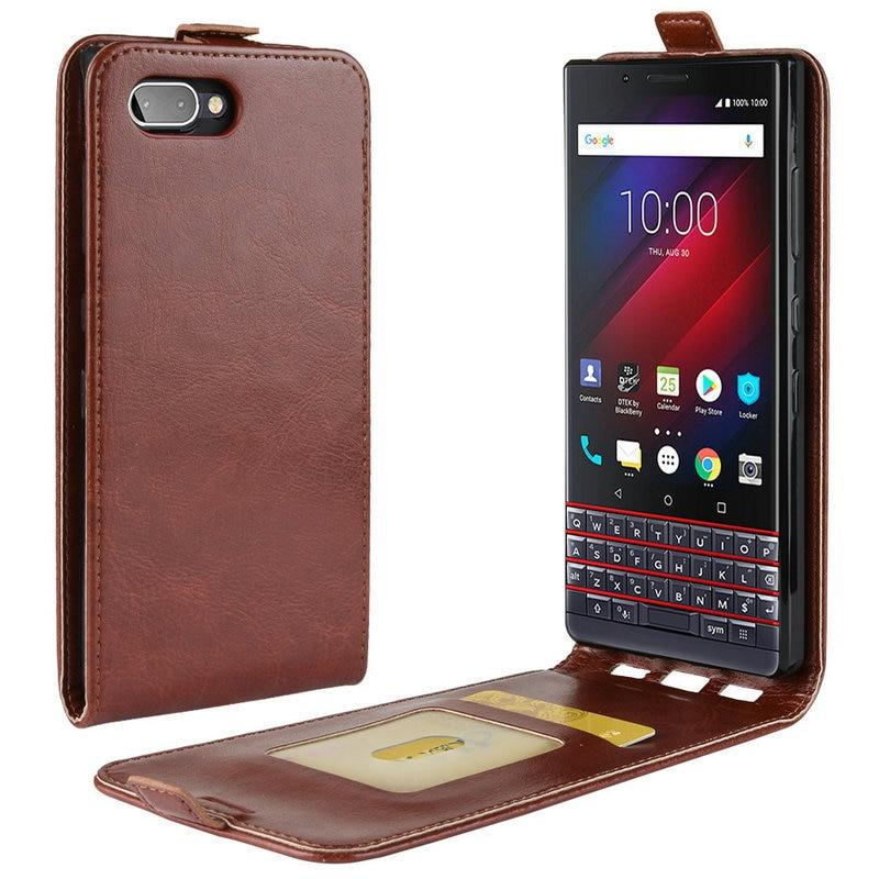 Funda de cuero Retro de lujo para BlackBerry KEY2 LE para BlackBerry KEY2 KEY 2 Cartera flip Funda de cuero estuche>