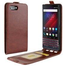 Etui de luxe rétro en cuir pour BlackBerry KEY2 LE pour BlackBerry KEY2 KEY 2 Etui portefeuille à rabat en cuir coque fundas Etui>