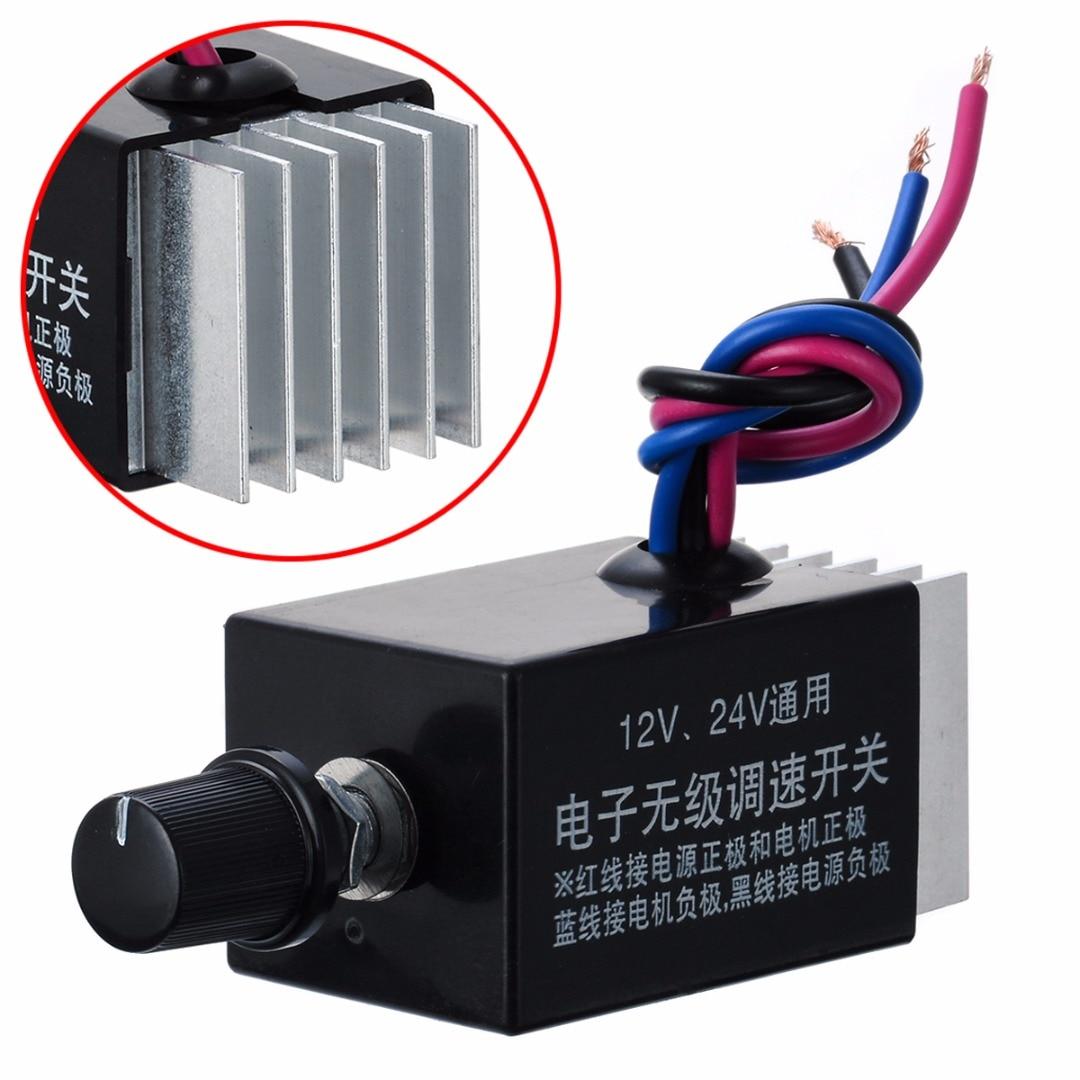 1pc Motor Geschwindigkeit Regler DC 12 V/24 V 10 EINE Motor Speed Controller Schalter Für Auto Lkw fan Heizung Steuerung