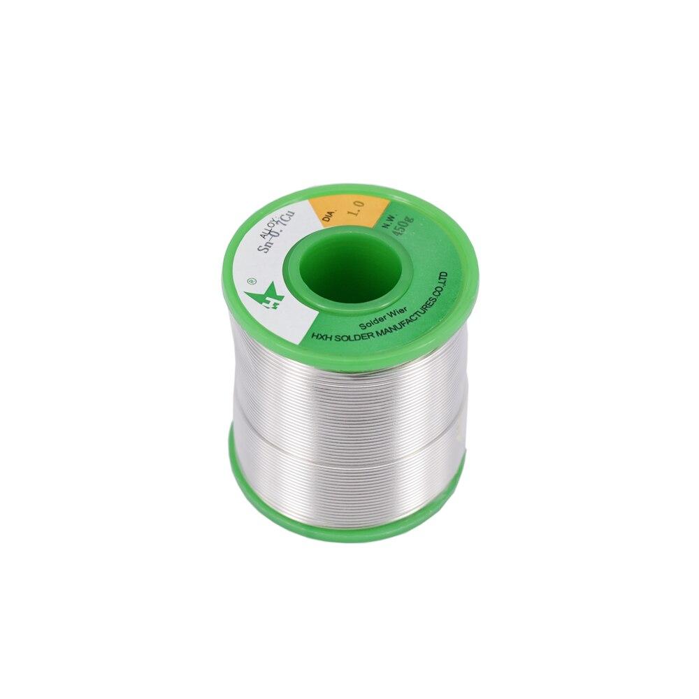 Libre de plomo 1,0mm soldadura de estaño de carrete de alambre de soldadura de carrete Core Flujo de soldadura de alambre de hierro carrete 450g Sn99.3 ROHS SGS