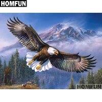 HOMFUN     peinture diamant theme  Animal Eagle   broderie complete 5D  perles carrees ou rondes  points de croix  a faire soi-meme  decoration dinterieur  cadeau  A01637