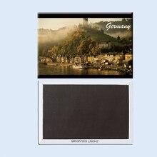 Allemagne cochem vue latérale brouillard colline cadeaux pour amis 22807 souvenirs de voyage réfrigérateur créatif