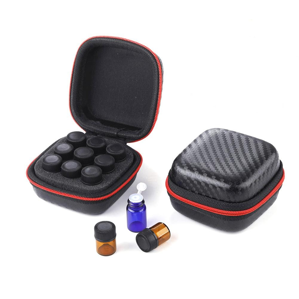 Universal Essential Oil Case Storage Bag 9 Compartments 1ML-3ML Protable For Travel #BW