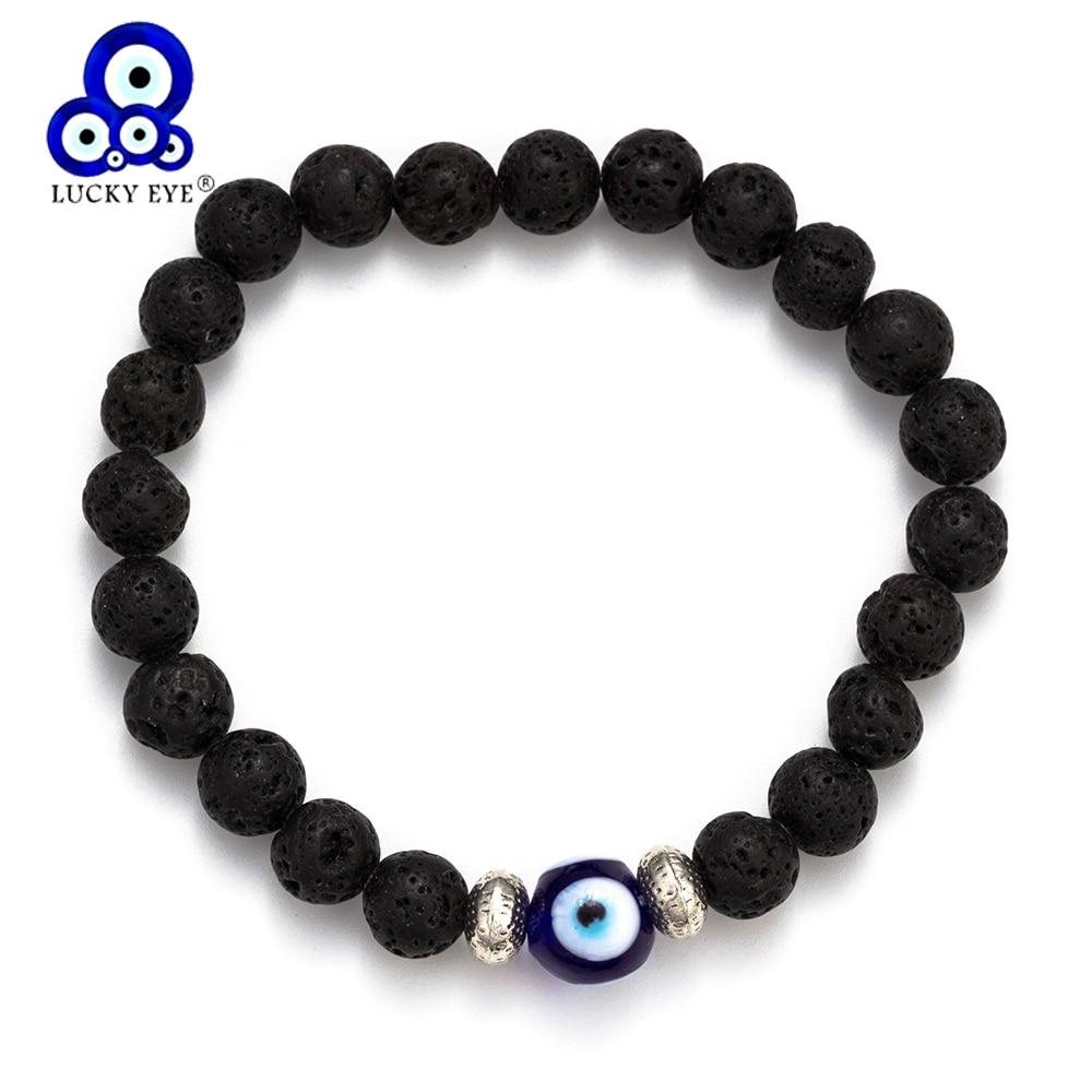 Lucky Eye Beaded Bracelet Evil Eye Natural Stone Yoga Elastic Strand Bracelet For Women Men Jewelry Gifts Fashion EY1262