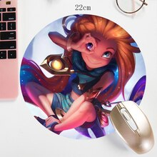 22X22CM  LOL Mouse pad Custom DIY  Gamer Keyboard Tablet PC Latop Mat  Zoe Kaisa Small Size Locking Edge Mousepad