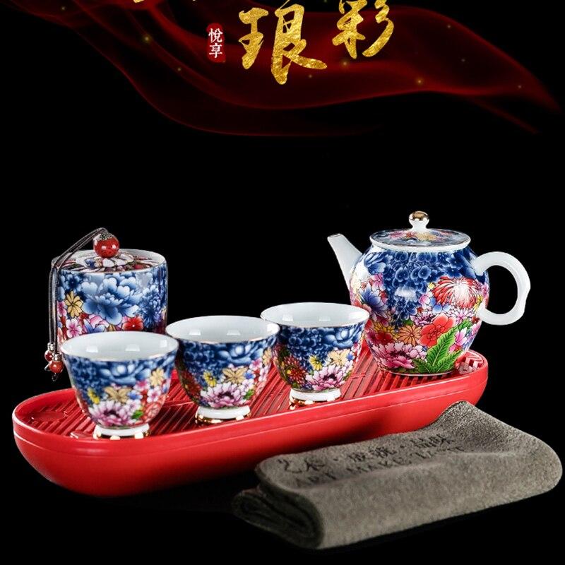 Juego de té chino, juego de té kungfu, juego de té portátil, juego de té de ceremonia kungfu, porcelana china