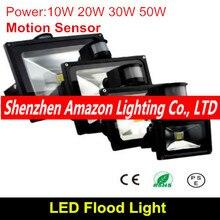 10 W 20 W 30 W 50 W PIR détecteur de mouvement LED projecteurs projecteurs extérieurs spot lampe dinondation jardin lumière réflecteur livraison gratuite