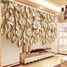 beibehang Custom Photo Wall paper Mural Jaslem Orchid Relief TV Wall papel de parede infantil papers home decor wallpaper 3d
