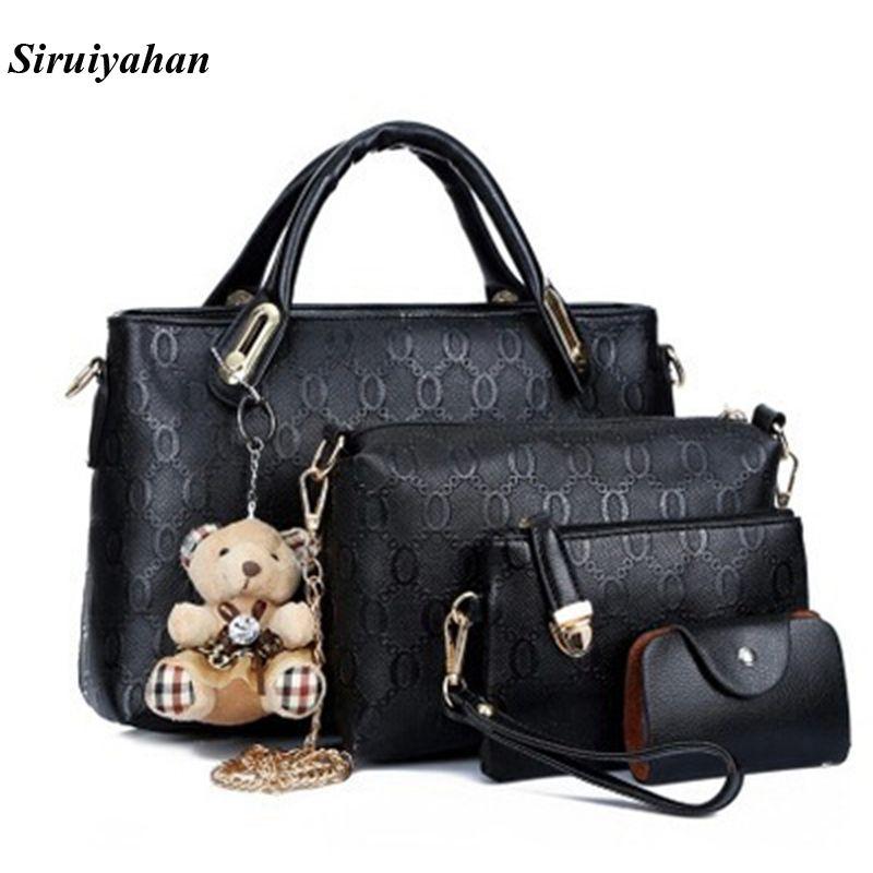Siruiyahan Luxury Handbags Women Bags Designer Women Leather Handbags Shoulder Bags Women Bag Female Bolsa Feminina