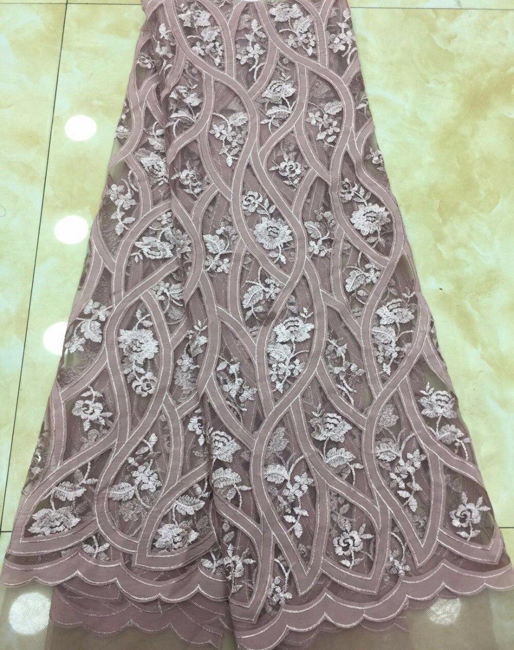 Encaje de tul africano de alta calidad Hojilou tela de encaje de corte africano el nuevo listado de tela de encaje de guipur africano de alta calidad TS6291