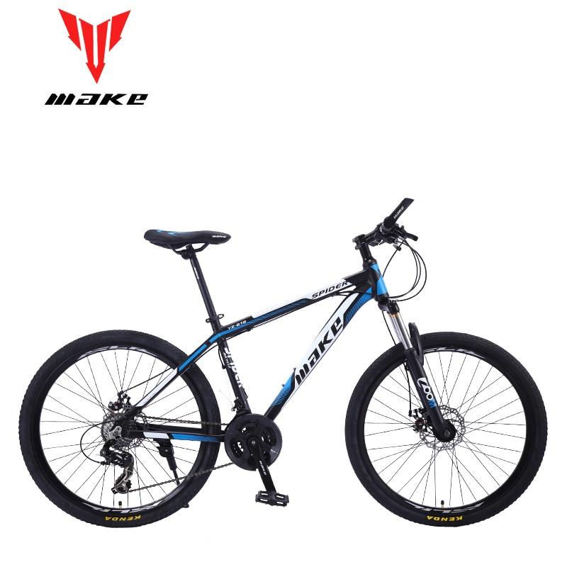 "Mountain Bike MAKE 26"" 24 Speed Disc Brakes Aluminium Frame"