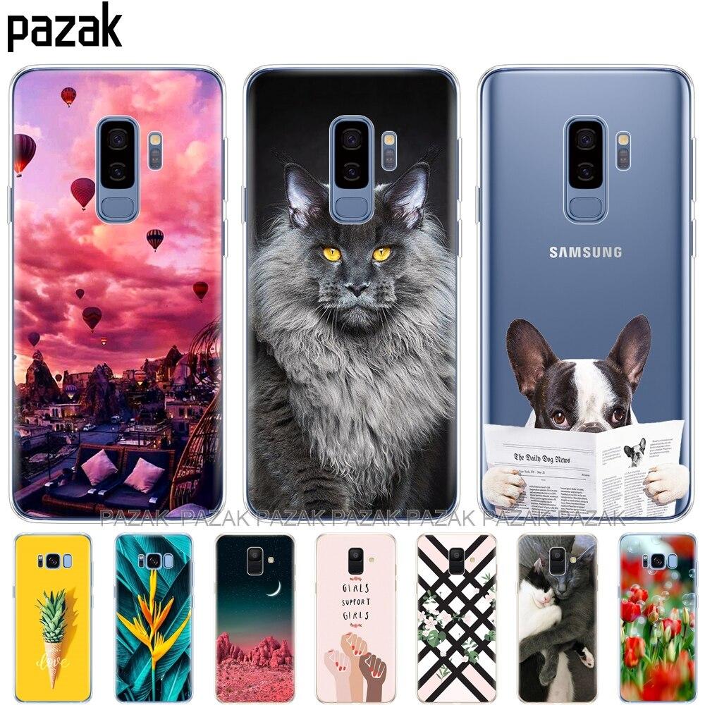 Housse de téléphone en Silicone pour Samsung Galaxy A6 A8 2018 S8 S9 PLUS couverture arrière pour A600 A605 A530 A730 Coque etui souple tpu