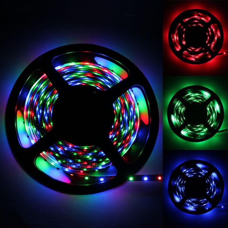 RGB SMD 2835 LED tira de luz 300 LEDs/5 M Año Nuevo cuerda cinta colores RGB alta calidad LED Flexible lámpara de decoración del hogar