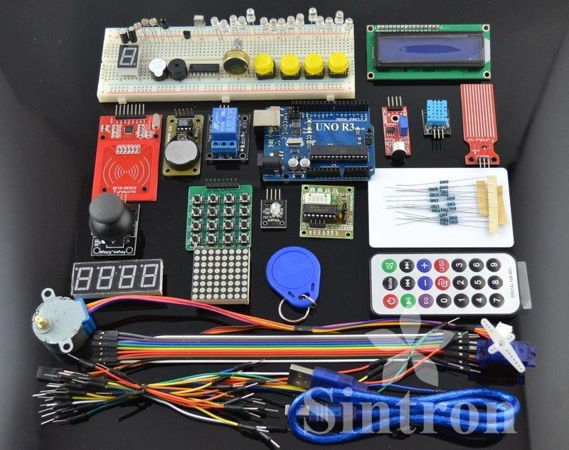 [Sintron] Mestre Kit + UNO R3 Board + Arquivos PDF Para Arduino AVR aluno