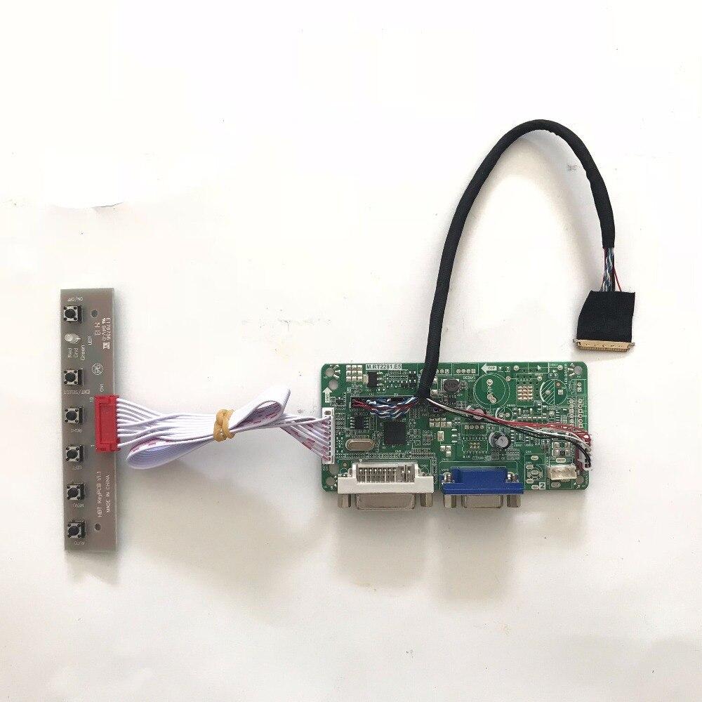2017 envío gratis RT2281.E5 VGA DVI LCD Placa de controlador Kit de bricolaje para B156XW02 V0 V3 V7 15,6 pulgadas 1366x768 LVDS LCD panel