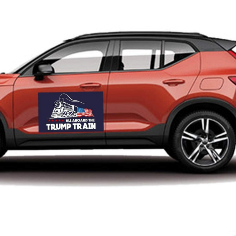2020 pegatina para el coche en casa Donald Trump locomotora pegatina decoración 10 piezas