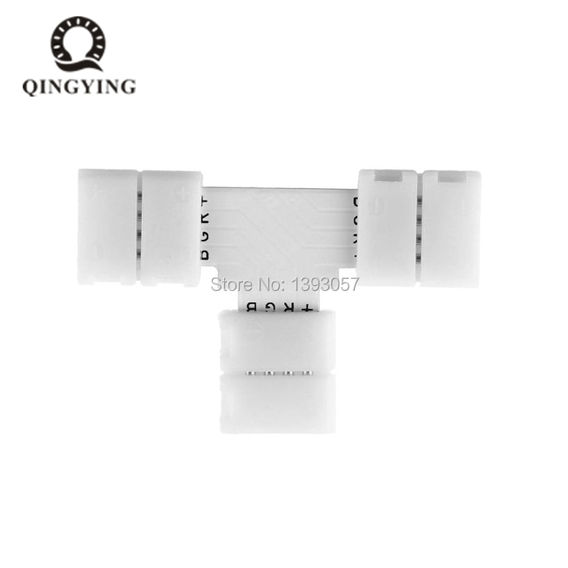 10 pcs 10mm 4 Pin L Cruz em Forma de T Conector PCB Livre de Solda Para SMD 5050 RGB LED Strip cor Luzes LED Strip