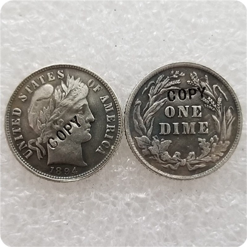 USA 1894-P, S, O Barber Liberty Head moneda copia monedas conmemorativas-réplica monedas medalla monedas coleccionables