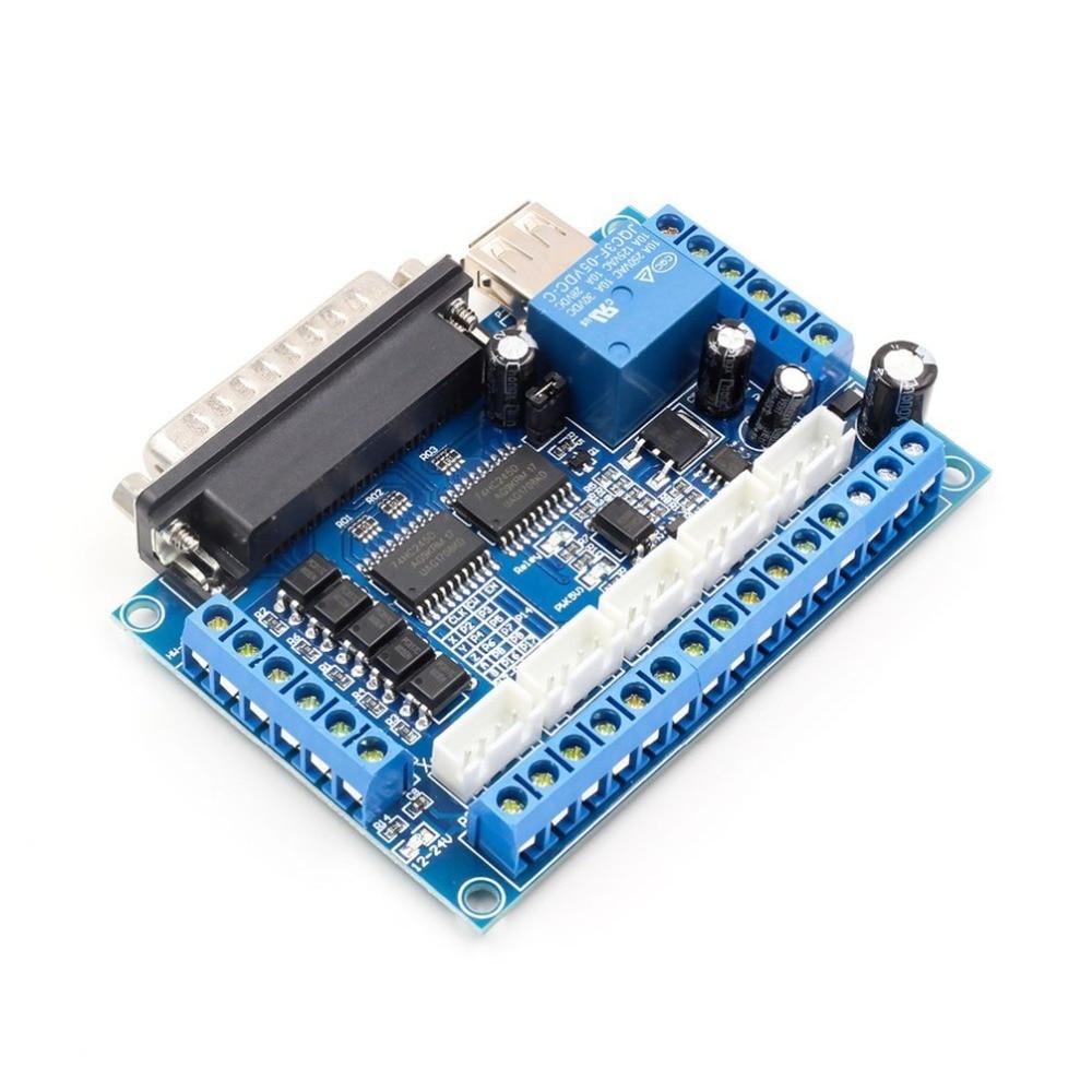 5 осевой ЧПУ разделочная плата драйвер шагового двигателя MACH3 параллельный порт управления Модуль управления с оптической муфтой USB кабель