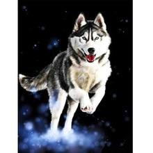5D Diy Diamond Painting World Full Drill Square Round Paint By Husky Attack Diamonds Bright Rhinestones Home Decor