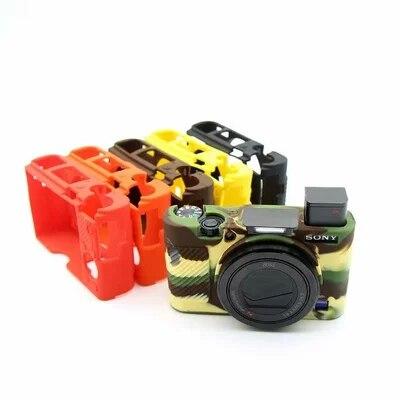 Funda de silicona de goma protectora Marco de carcasa suave para Sony RX100 III IV V M3 M4 M5 RX100M3 RX100M4 RX100M5 RX100M6 Cámara