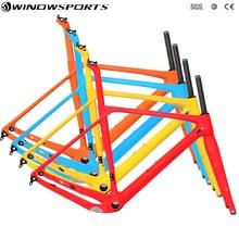 Winowsports Carbon Grind Bike Frame Ruwe Afwerking Unpainted Frame Ud Weave Max Banden 700*40 Mm Steekas 100*15 Mm Cyclocross Vork