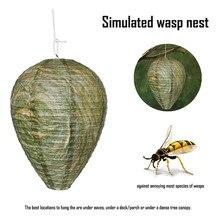 Decoy en papier guêpes nid dabeille   Guêpes simulées Repell abeille, dissuasion de conduite, accrocher, fausse maison, sûre, accessoires pratiques de jardin