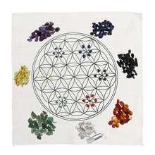 Kit de grilles de guérison en cristal   Chakra tissu dautel, Chakra Reiki ensemble de pierres précieuses, Kit de baguettes en cristal de Quartz Points décoration en pierres dénergie