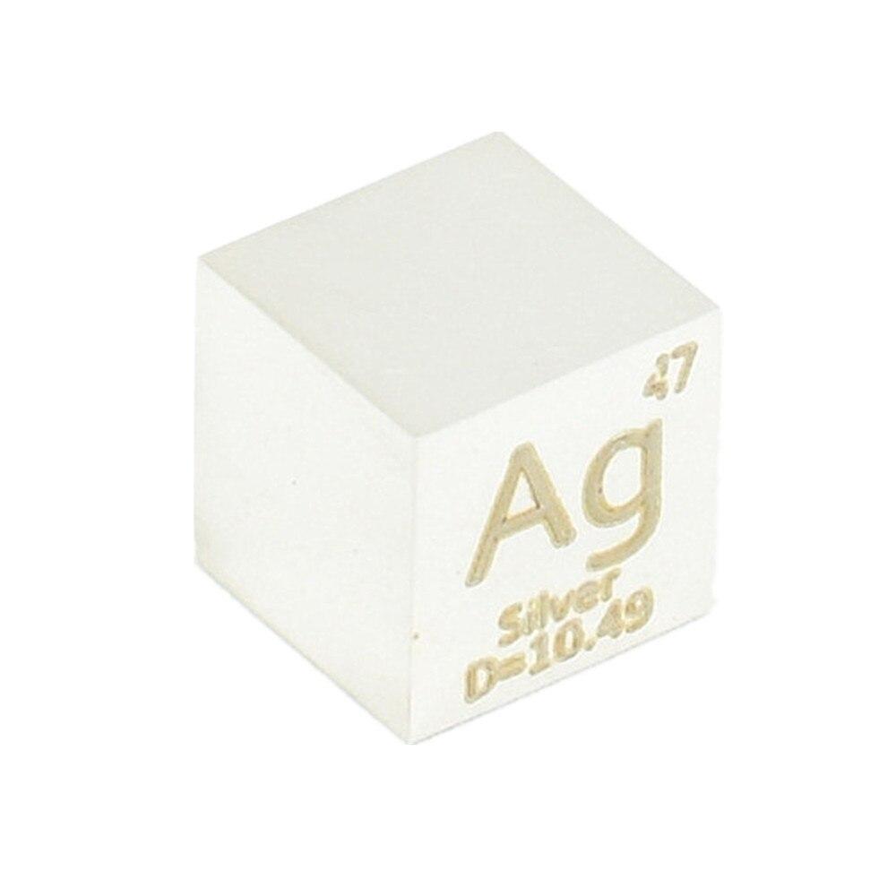 مكعب 10 مللي متر من الفضة النقية لمجموعة العناصر ، كتلة Ag ، كثافة 99.99% ، صناعة يدوية ، عرض يدوي ، مرآة مصقولة