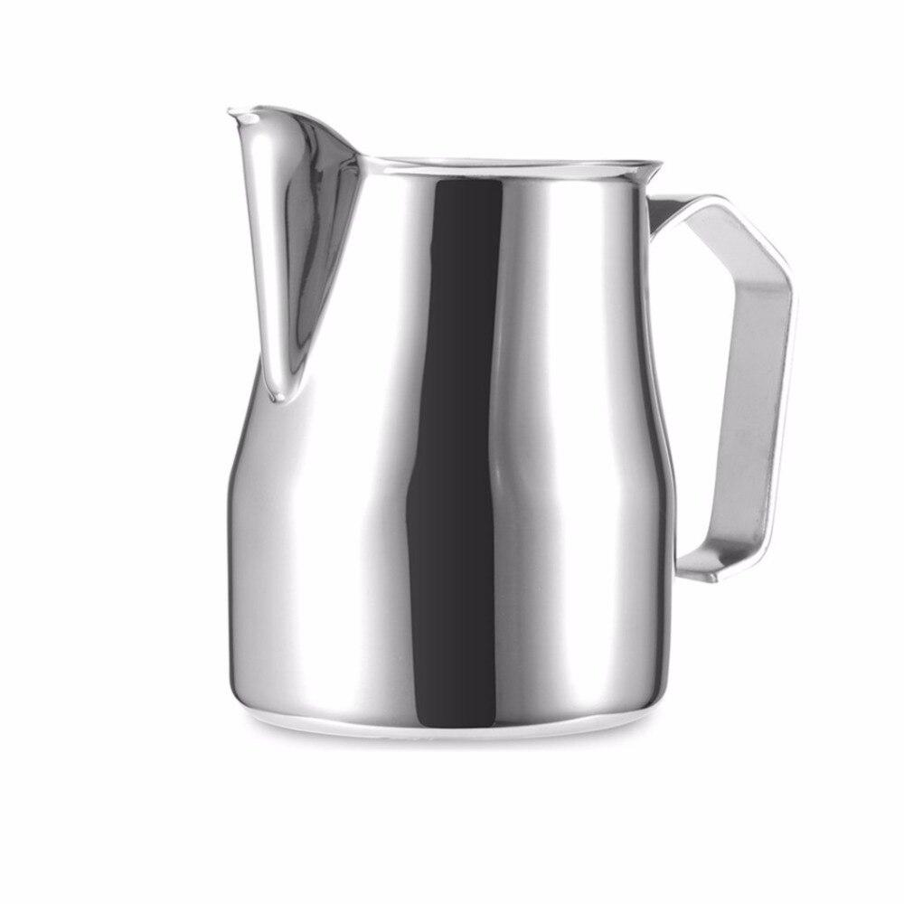 Acero inoxidable 350/550/750ml jarra de espuma de leche jarra de café expreso tazas de leche Garland taza para lattes Art Coffee Tool