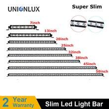 "Super Slim LED Light Bar Single Row 7"" 13"" 20"" 25"" 32"" 38'' 45'' 50'' 30W 60W 90W 120W 180W For 4X4 ATV Off Road LED Work Light"