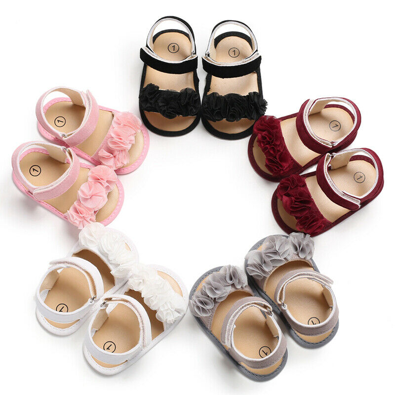 Sandalias de flores para recién nacido, Chico, niña, sandalias de verano para bebé, zapatos casuales para niña, primeros Primeros pasos