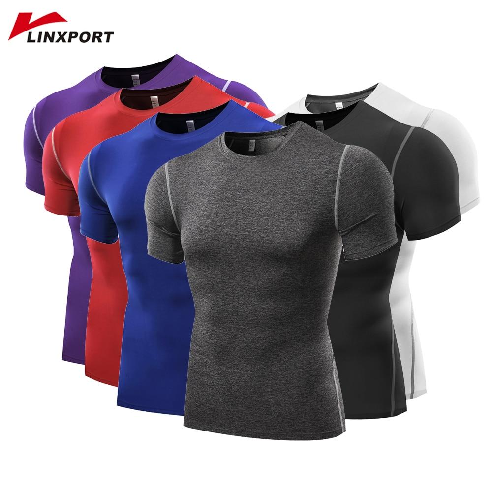 Мужские футболки с коротким рукавом для фитнеса, баскетбола, бега, колготки, спортивные, термальные, для бодибилдинга, тренажерного зала, компрессионная трикотажная куртка, Топ