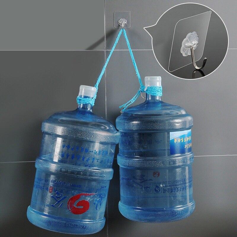 4 шт. подшипник 3 кг клей крепкий настенный крюк Lucky Clover прозрачные кухонные крючки водонепроницаемый набор аксессуаров для ванной комнаты