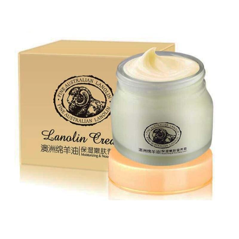 Crema de aceite de oveja australiana, crema de loción de 90g, ácido hialurónico de lanolina, jugo de Aloe de glicerina