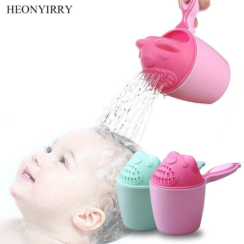 Милые Мультяшные Детские шапочки для ванны, Детские шапочки для купания, Детские Ложки для душа, детские чашки для мытья волос, детский инструмент для ванны