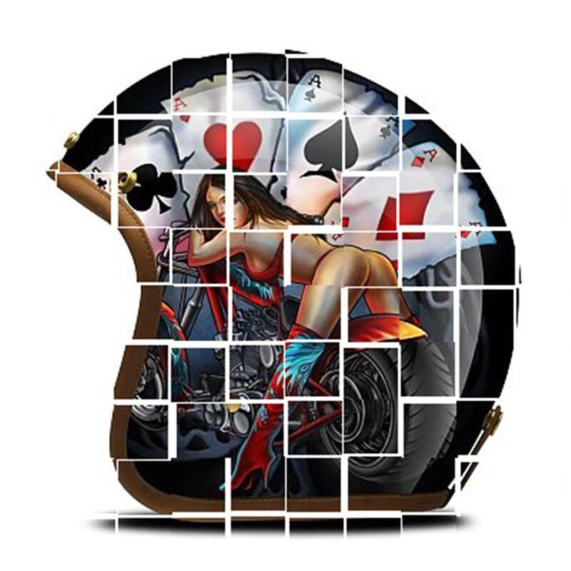 Шлем citycoco, настраиваемый Топ, сделай сам, уникальный, ручной работы, портативный, Vegas Poker, Сексапильный, мотоциклетный, велосипедный, скутер, д...