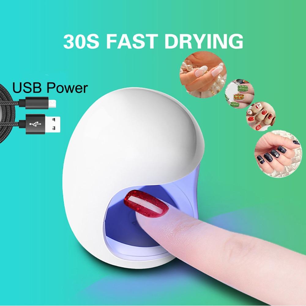 Nail Art Machine  1pc  Mini USB UV Nail Gel Curing Lamp Light Nails Polish Dryer Nails Lamp Not included USB lines  2019 May25