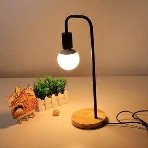 Nordic Table Lamp E27 Bulbs Table Reading Light Simple Modern LED Desk Light Office Studio Working Desk Lamp