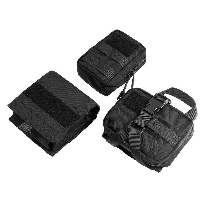 OneTigris Tactical Dog Pack Set 3 Pouches EDC Molle Tool Pouch Bag First Aid Trauma Pack EMT/First Aid Pouch For Camping Hunting