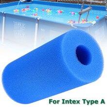 Filtre de piscine cylindrique haute densité   Bleu, filtre daquarium en mousse, filtre daquarium, filtres de remplacement réutilisables accessoire