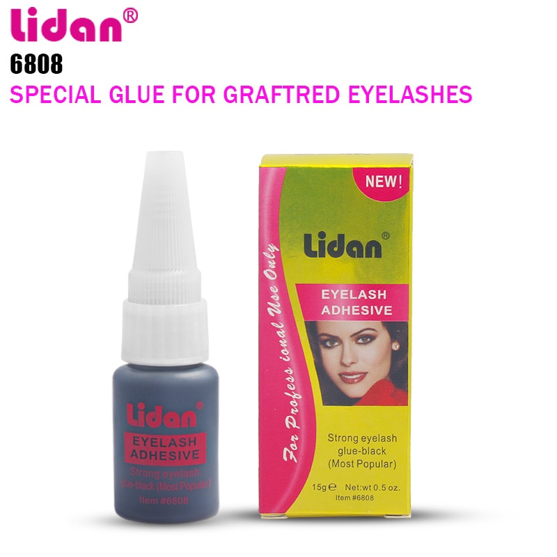 Pegamento de LIDAN 20g para pestañas adhesivo para pestañas de seda pegamento Duo Fexport maquillaje de ojos de flor rápida seguidores + 3% de descuento