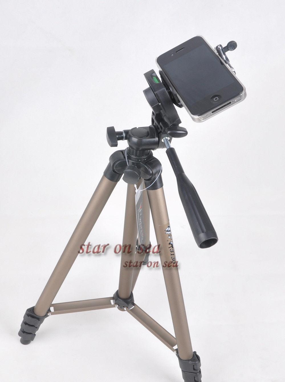 Фото новая weifeng WT 3130 handiness видеокамера DV штатив + держатель для телефона