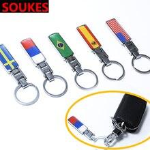 Car VIP TURBO Flag Emblem Badge Key Chain Ring For BMW E46 E39 X5 E53 X6 Mini Cooper Audi A4 B6 B8 A5 TT Ford Fiesta Kuga