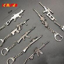 1/12 métal arme jeu pioche figurine jouet 98 k M249 VSS SKS AWM WIN94 SVD UMP PUBG porte-clés