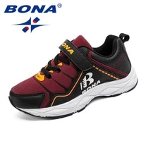 bona new style children casual shoes hook loop boys shoes synthetic girls shoes comfortable kids sneakers fast free shipping