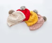 Children Winter Hat baby girl Lovely Beret wool hat Ice Cream Ball Cap  #346yq