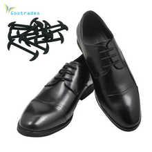 Gootrade 12 pièces/ensemble 3 tailles hommes femmes chaussures en cuir paresseux pas de lacet lacets élastique Silicone chaussure lacet approprié livraison gratuite